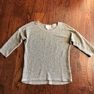 Two by Vince Camuto Semi Sheer Gold Sweater